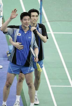 金东文 何泰权 雅典奥运会男双冠军