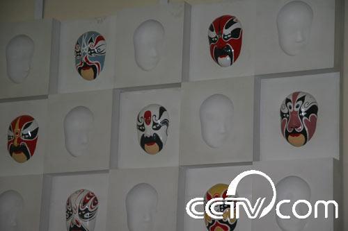 京剧脸谱装饰墙