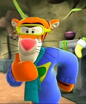 """最近特喜欢看的动画片""""小熊维尼和跳跳虎"""" -三岁小娃"""
