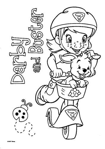 涂色城堡简笔画; 维尼与跳跳虎一起来上色图片_动画片图片_少儿图库