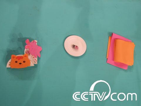 海绵纸做出小动物和树
