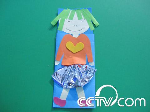 手工制作纸袋娃娃图片