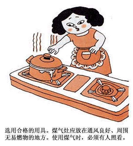 防火安全漫画简笔画
