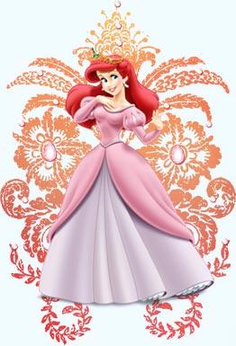爱丽儿公主小美人鱼,爱丽儿公主简笔画