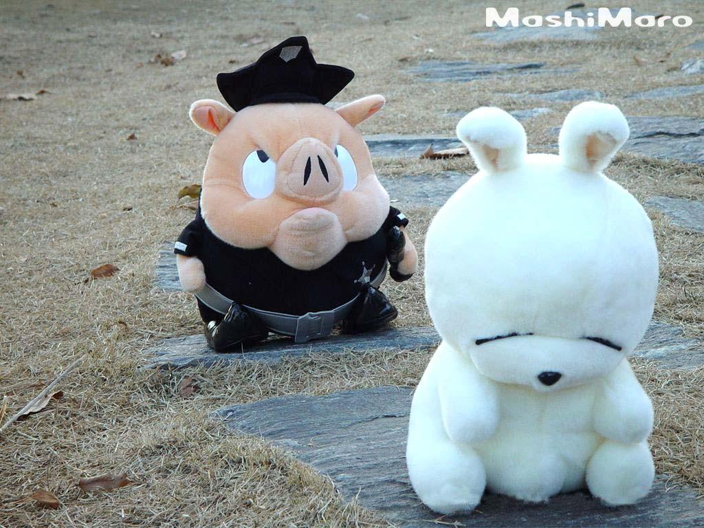 像马桶,酒瓶等… 外形白胖可爱的流氓兔
