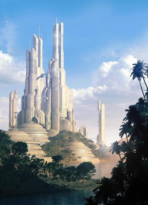 未来城市幻想画 科学幻想画未来的城市 科技幻想画未来的城市图片