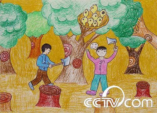 儿童绘画保护环境图片,儿童保护环境的画_保护环境儿童绘画作品,儿童图片