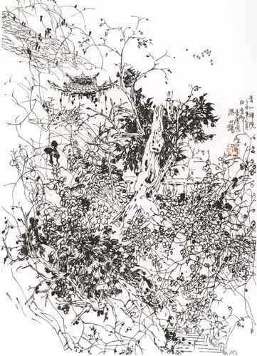 青年中国梦画画作品内容图片展示