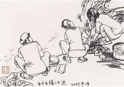 古代艺术学生作品简笔画一