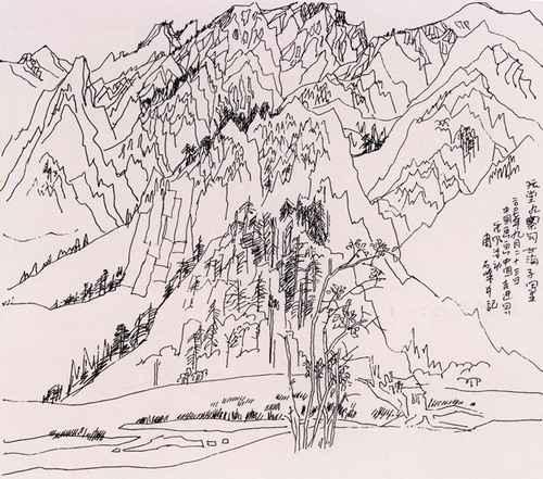 山水线描写生