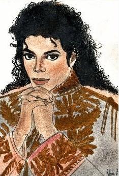 巨星迈克尔·杰克逊手绘漫画精选-灌水娱乐-牙套之家
