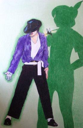 巨星迈克尔·杰克逊手绘漫画精选