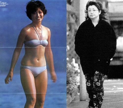 """到穿花裤子的""""肥师奶""""山口百惠据说眼下正在忙于瘦身-最是那一低图片"""