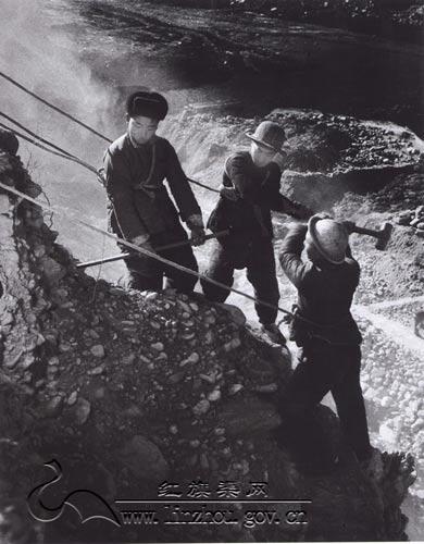 林州红旗渠纪念馆; 见证红旗渠修建的艰苦岁月; 红旗渠建设时期老照片