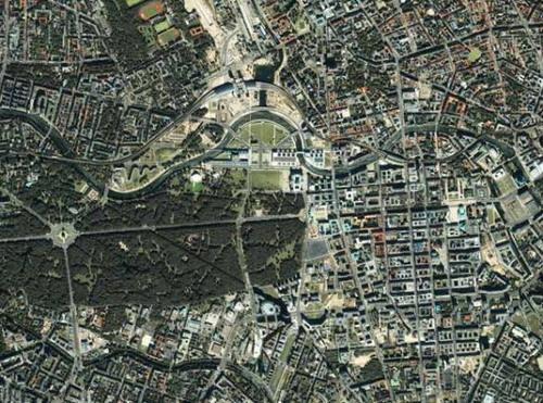 世界遗产壮观卫星照片:埃及吉萨金字塔群(组图)