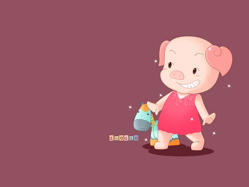 星星狐》小猪朵朵唯美壁纸下载