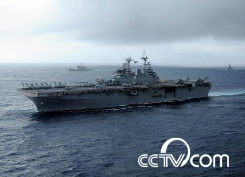 美日在太平洋举行最大联合军演 日本航母现身(组图)
