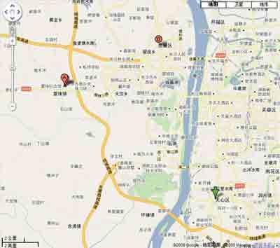 宁乡城区行政地图