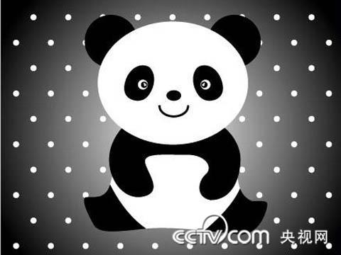 幼儿简笔画《熊猫》